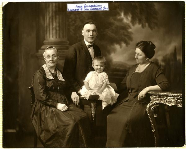 Sarah, Anna May, Leonard, & Leonard Jr.